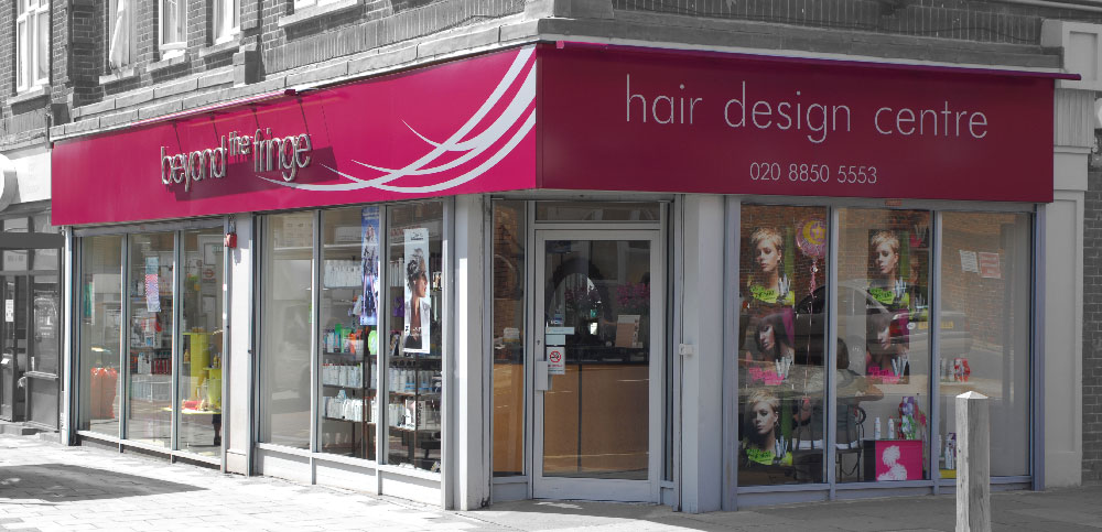 Front of Beyond the Fringe Eltham hairdressing salon